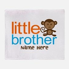 Personalized Monkey Little Brother Throw Blanket
