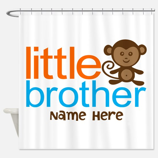 Personalized Monkey Little Brother Shower Curtain