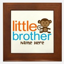 Personalized Monkey Little Brother Framed Tile