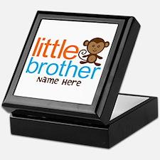 Personalized Monkey Little Brother Keepsake Box