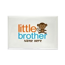 Personalized Monkey Little Brother Rectangle Magne