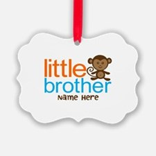Personalized Monkey Little Brother Ornament
