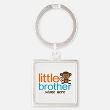 Personalized Monkey Little Brother Square Keychain