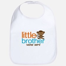 Personalized Monkey Little Brother Bib