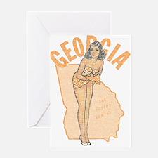 Faded Georgia Pinup Greeting Card