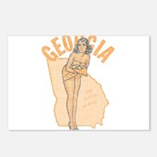 Faded Georgia Pinup Postcards (Package of 8)