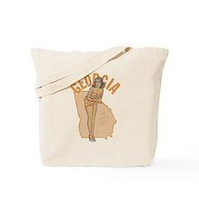 Faded Georgia Pinup Tote Bag