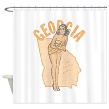Faded Georgia Pinup Shower Curtain