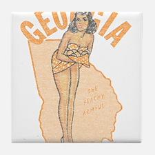 Faded Georgia Pinup Tile Coaster