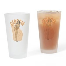 Faded Georgia Pinup Drinking Glass