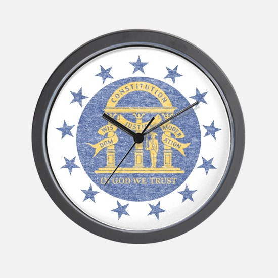 Vintage Georgia State Flag Wall Clock