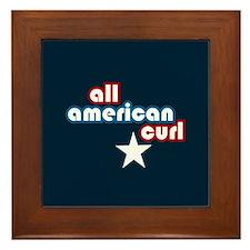 All American Curl Framed Tile