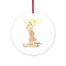 Hawaiian Pinup Hula Ornament (Round)