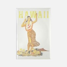 Hawaiian Pinup Hula Rectangle Magnet