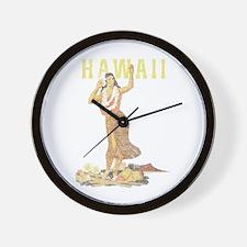 Hawaiian Pinup Hula Wall Clock