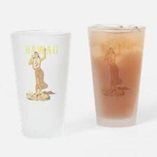 Hawaiian Pinup Hula Drinking Glass