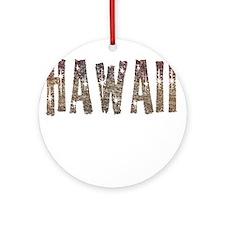Hawaii Coffee and Stars Ornament (Round)