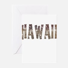Hawaii Coffee and Stars Greeting Cards (Pk of 20)