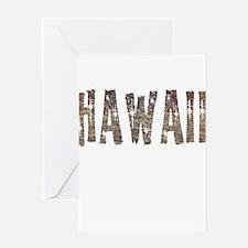 Hawaii Coffee and Stars Greeting Card