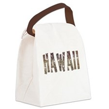 Hawaii Coffee and Stars Canvas Lunch Bag