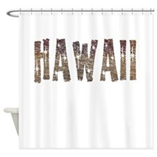 Hawaii Coffee and Stars Shower Curtain