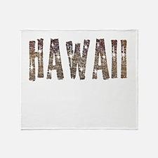 Hawaii Coffee and Stars Throw Blanket