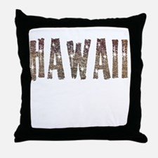 Hawaii Coffee and Stars Throw Pillow