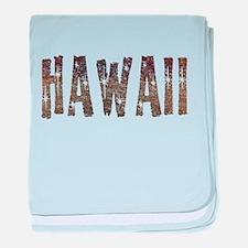 Hawaii Coffee and Stars baby blanket