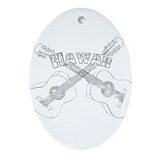 Hawaii Guitars Ornament (Oval)