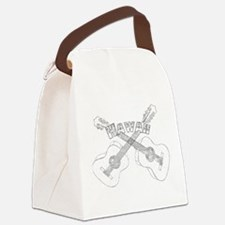 Hawaii Guitars Canvas Lunch Bag