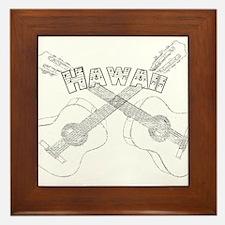 Hawaii Guitars Framed Tile