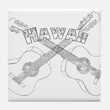 Hawaii Guitars Tile Coaster