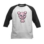 Cutie Cartoon Pig Piglet Cute Art Kids Baseball Je