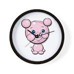 Cutie Cartoon Pig Piglet Cute Art Wall Clock