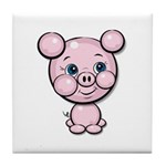 Cutie Cartoon Pig Piglet Cute Art Tile Coaster