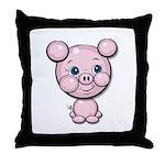 Cutie Cartoon Pig Piglet Cute Art Throw Pillow
