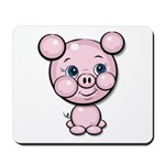Cutie Cartoon Pig Piglet Cute Art Mousepad