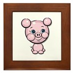 Cutie Cartoon Pig Piglet Cute Art Framed Tile