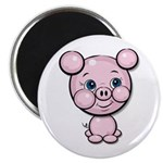 "Cutie Cartoon Pig Piglet Cute Art 2.25"" Magnet (10"