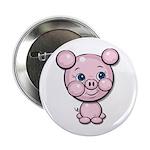 """Cutie Cartoon Pig Piglet Cute Art 2.25"""" Button (10"""