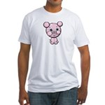 Cutie Cartoon Pig Piglet Cute Art Fitted T-Shirt