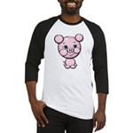 Cutie Cartoon Pig Piglet Cute Art Baseball Jersey