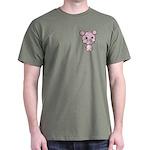 Cutie Cartoon Pig Piglet Cute Art Dark T-Shirt