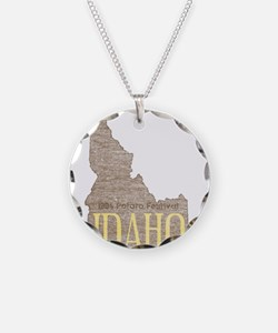 Vintage Idaho Potato Necklace