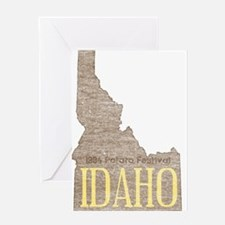 Vintage Idaho Potato Greeting Card