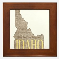 Vintage Idaho Potato Framed Tile