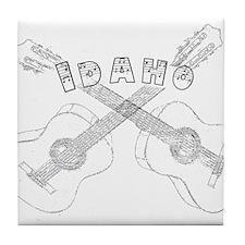 Idaho Guitars Tile Coaster