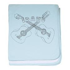Idaho Guitars baby blanket