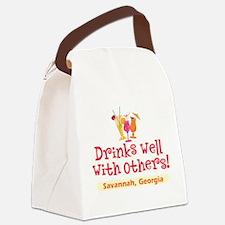 Drinks Well-Savannah, GA- Canvas Lunch Bag