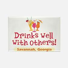 Drinks Well-Savannah, GA- Rectangle Magnet